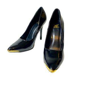 Shiekh Classic Black Gold Toe heels